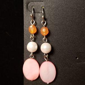 🎀pink dangle earrings
